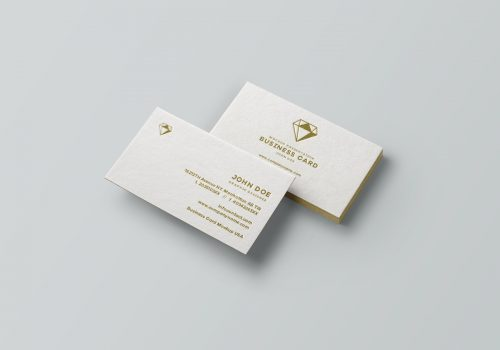 Classy Diamond Emblem Business Cards